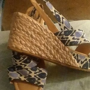 Shoes - Blue / wedges